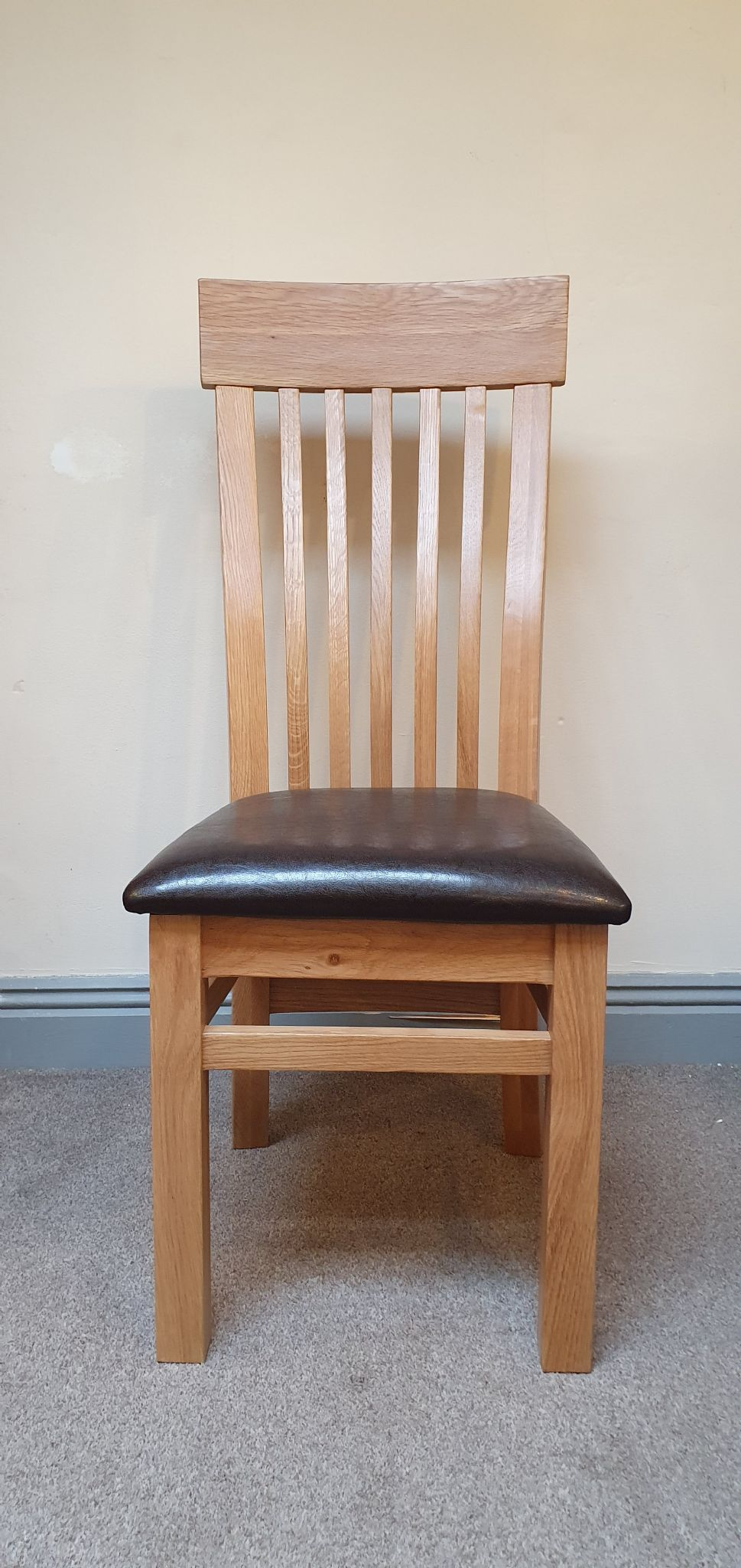 Solid Oak Dining Chairs ~ Loxley solid oak dining chair